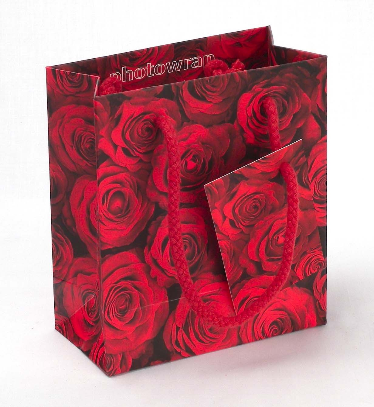 Red roses small gift bag ⋆ photowrap