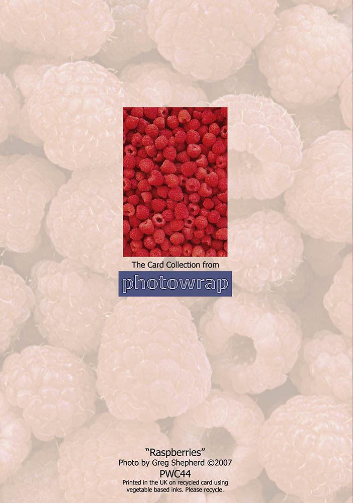 Raspberries greetings card photowrap raspberries greetings card m4hsunfo